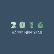 New Year Card Cover or Background Design Template - 2016