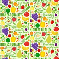 Typographic vector fruits and vegetables seamless pattern or bac N2