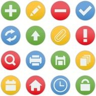 iCon Business Process Management Circle Color Style