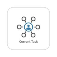Current Tasks Icon Business Concept Flat Design N2