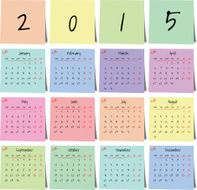 Calendar sticker 2015 vector
