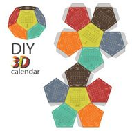 Scheme of 3d calendar - do it yourself DIY