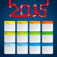 Simple 2015 Calendar Background card design