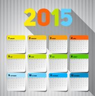 Simple 2015 Calendar Background card design N2