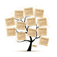 Calendar tree 2015 for your design N2