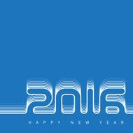 Happy new year 2016 Creative greeting card design template