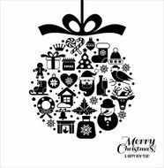 Christmas design icons set N10