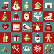 Christmas illustration Vector set of icons N10