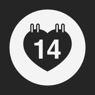 valentine's day calendar icon N15
