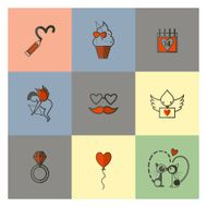 Happy Valentines Day Icons N115