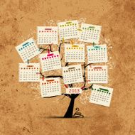 Calendar tree 2013 for your design