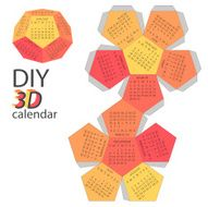 Scheme of 3d calendar - do it yourself DIY N2