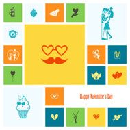 Happy Valentines Day Icons N170