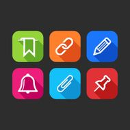 flat icons for web and mobile applications (flat design with