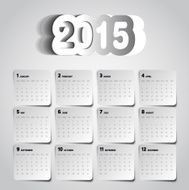 Simple 2015 Calendar Background card design N3