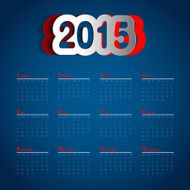 Simple 2015 Calendar Background card design N4