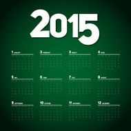 Simple 2015 Calendar Background card design N5