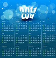colorful calendar design N4