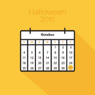 Flat holiday calendar icon N11
