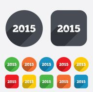 Happy new year 2015 sign icon Calendar date N13