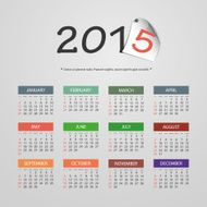 Calendar 2015 - Vector Illustration Design
