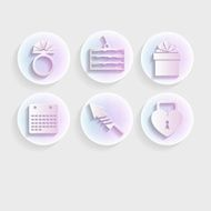 Light icons for wedding