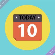 Calendar Icon - vector illustration Flat design N15