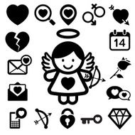 Valentine's day icons set N2