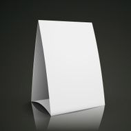 modern 3d blank white paper table card