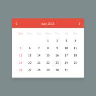 Calendar page for July 2015 N8
