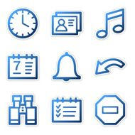 Organizer icons blue contour series