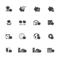 Savings icon set