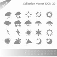Collection icons Gray Set 34