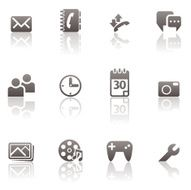 Basic Cell Phone Icon Set