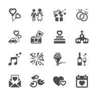 wedding icon set vector eps10