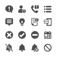 notification and information icon set vector eps10
