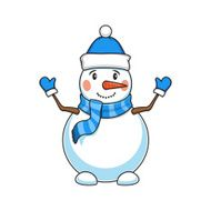 Christmas and New Year decorative snowman