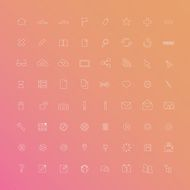 Thin line web icon set