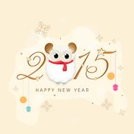 New year 2015 greeting card design N5