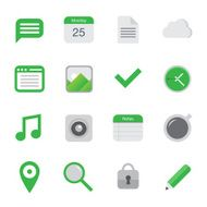 Vector flat icons business media office N2