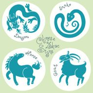 Set signs of the Chinese zodiac N2