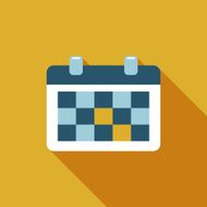 calendar flat icon with long shadow N5