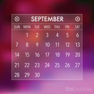 Trendy Abstract Blurry 2014 Hipster Calendar N5