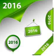 New Year green card web design elements