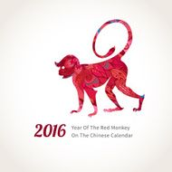 Monkey symbol of 2016 on the Chinese calendar N7