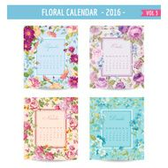 Floral Calendar 2016 with Vintage Flowers - September December