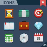 Business flat icons N9