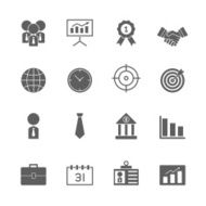 Business icons set N25