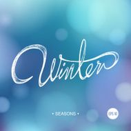 SEASONS WINTER bokeh background