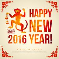 Happy Chinese New Year 2016 Greeting Card